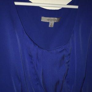 Classiques Entier Blue Silk Sleeveless Top